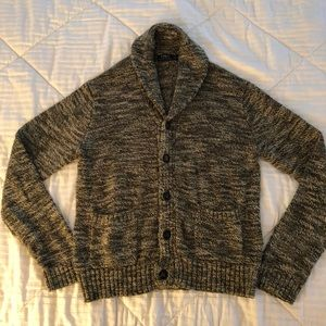 Polo sweater cardigan